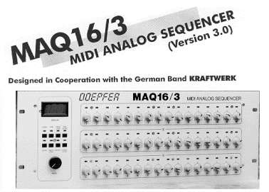 MAQ 16/3 Analog/MIDI sequencer - click on the image for a more detailed image