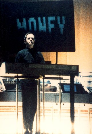 Ralf Hütter pictured during 'Computer World', Genova 11.2.90
